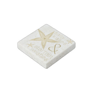 Salty Kisses Starfish Wishes Stone Magnet