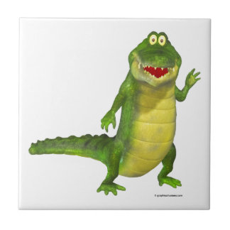 Salty the Crocodile Small Square Tile