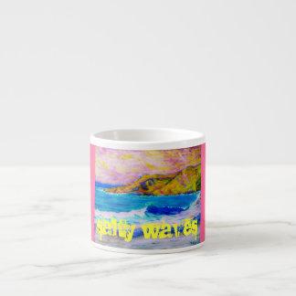 salty waves 6 oz ceramic espresso cup