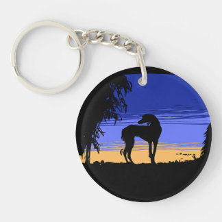 Saluki ate night key ring