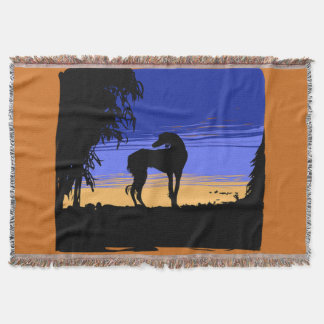 Saluki ate night throw blanket