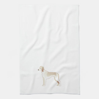 Saluki Basic Dog Breed Illustration Silhouette Tea Towel