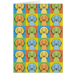 Saluki Dog Cartoon Pop-Art, Persian Greyhound Card