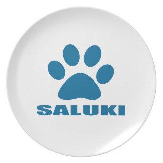 SALUKI DOG DESIGNS PLATE