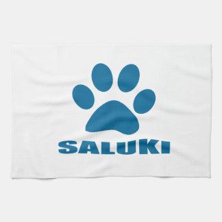 SALUKI DOG DESIGNS TEA TOWEL