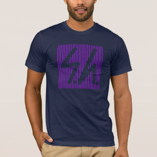 Saluki grey logo reverse purple T-Shirt