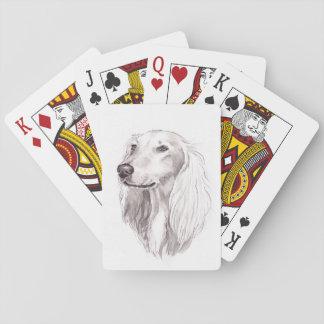 Saluki Sighthound Dog Art Playing Cards