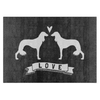 Saluki Silhouettes Love Cutting Board