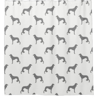 Saluki Silhouettes Pattern Shower Curtain