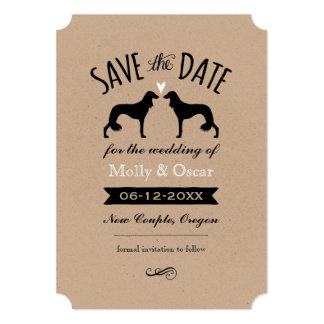 Saluki Silhouettes Wedding Save the Date Card