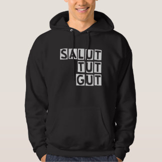 Salut does || Black edition hood sweater to