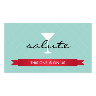 Salute alcoholic drink ticket party event voucher pack of standard business cards