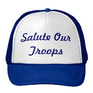 Salute our troops cap