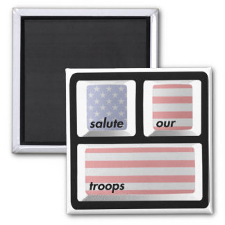 Salute our Troops magnet! Magnet