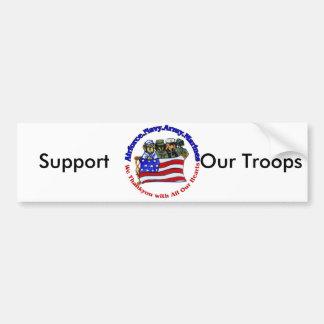 Salute to Troops Bumper Sticker