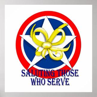 Saluting Those Who Serve Poster