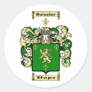 Salvador Classic Round Sticker