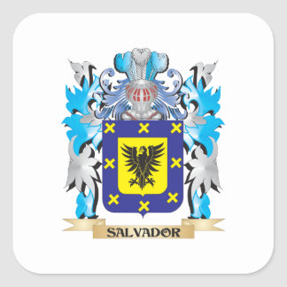 Salvador Coat of Arms - Family Crest Square Stickers