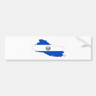 salvador country flag map shape silhouette symbol bumper sticker