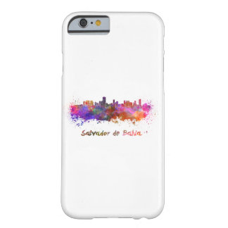 Salvador de Bahia skyline in watercolor Barely There iPhone 6 Case