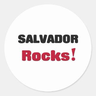 Salvador Rocks Round Stickers