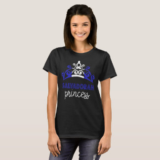 Salvadoran Princess Tiara National Flag T-Shirt