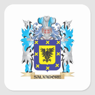 Salvadore Coat of Arms - Family Crest Square Stickers