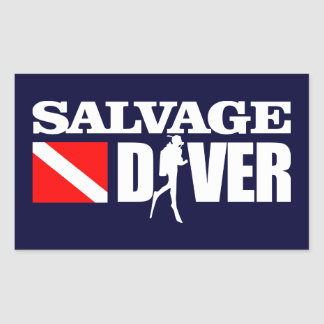 Salvage Diver 2 Rectangular Sticker