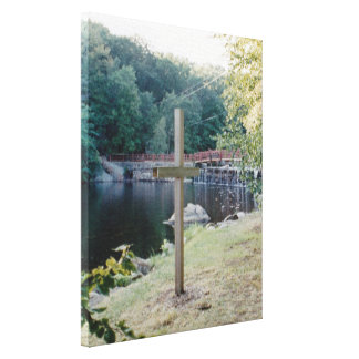 Salvation Cross Stretched Canvas Print