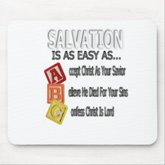 Salvation Is Easy As ABC Mouse Pad