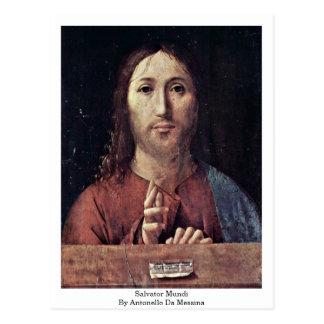 Salvator Mundi By Antonello Da Messina Postcard