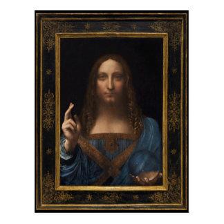 Salvator Mundi by Leonardo da Vinci circa 1500 Postcard