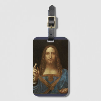 Salvator Mundi Christ with World in His Hand Luggage Tag
