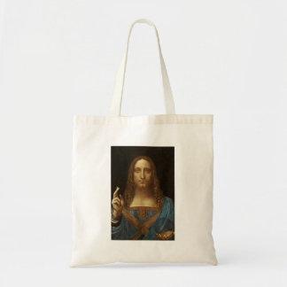 Salvator Mundi Christ with World in His Hand Tote Bag