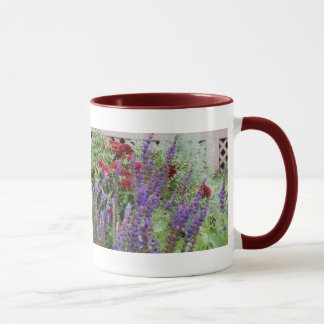 salvia and mums 2x pics mug