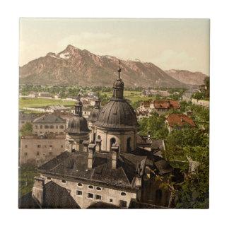 Salzburg and Untersberg, Austria Small Square Tile