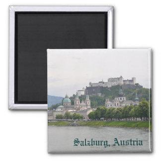 Salzburg, Austria Square Magnet