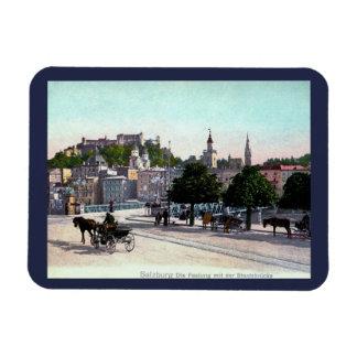 Salzburg, Austria, Staatsbrücke, 1910 Vintage Magnet