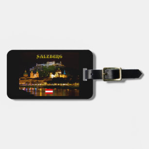 Salzburg Castle Austria - High Quality Pro Photo Luggage Tag