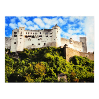 Salzburg castle 17 cm x 22 cm invitation card