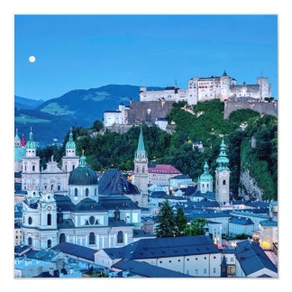 Salzburg city, Austria 13 Cm X 13 Cm Square Invitation Card