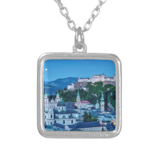 Salzburg city, Austria Silver Plated Necklace