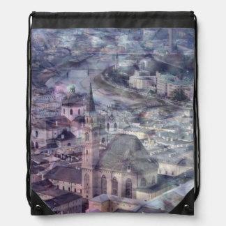 Salzburg,Vintage Look Drawstring Backpack