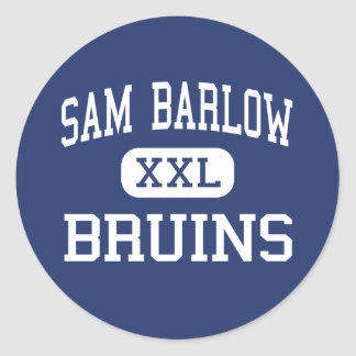 Sam Barlow - Bruins - High School - Gresham Oregon Round Sticker