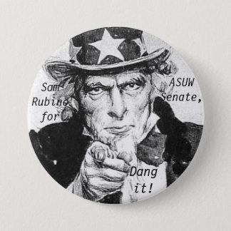 Sam for ASUW 7.5 Cm Round Badge