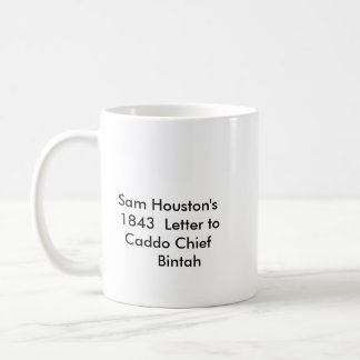 Sam Houston Letter Coffee Mug