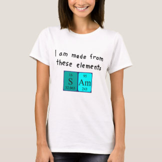 Sam periodic table name shirt