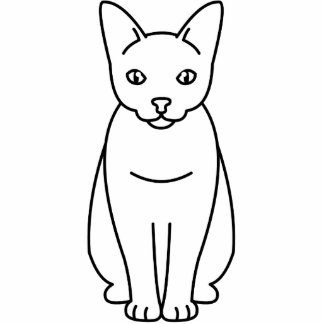 Sam Sawet Cat Cartoon Standing Photo Sculpture