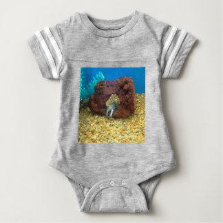Sam the blue lobster crayfish baby bodysuit