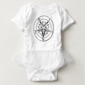 Samael Lilith Goat Pentagram Baby Bodysuit